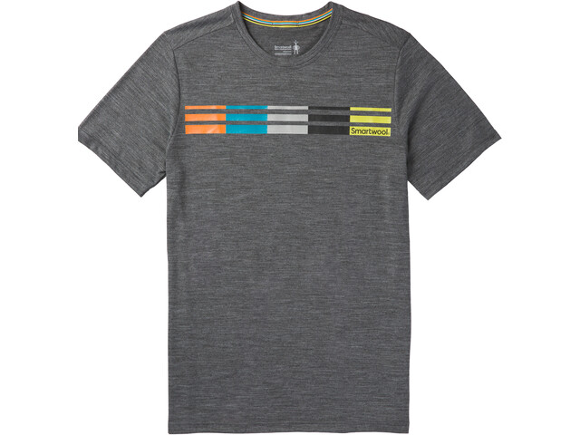 Smartwool Merino Sport 150 Flag Logo Camiseta Hombre, medium gray heather